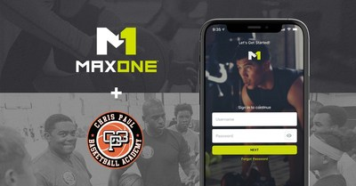 Chris Paul invests in MaxOne Series A round of funding and licenses platform for digital training at his CP3 Academy location in Winston-Salem, North Carolina.