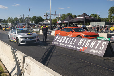 """Back after a one-year hiatus, """"MotorTrend Presents Roadkill Nights Powered by Dodge"""" staged a thrilling return to Woodward Avenue on Saturday, August 14, drawing 38,000 performance enthusiasts to M1 Concourse in Pontiac, Michigan for the popular one-day festival of street-legal drag racing."""