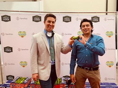 Farmfolio CEO Dax Cooke with COO Oscar Baracaldo