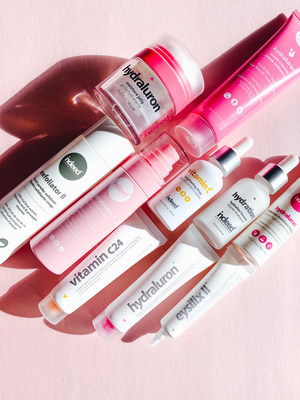 A selection of Indeed Labs products including the bestselling Hydraluron™ Range