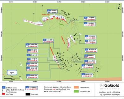 Figure 1: Mololoa Plan View (CNW Group/GoGold Resources Inc.)