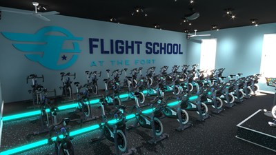 Flight School - Powered by Stages Cycling and the energy of the studio each 45-minute flight will have your heart pumping, your body rocking and your face with a smile. https://fortathleticclub.com/flight-school/