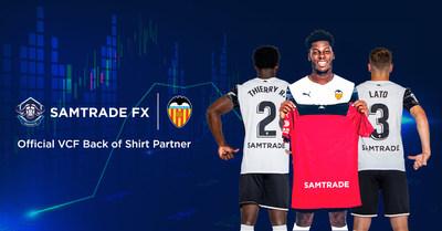 Samtrade FX - the official VCF Back of Shirt partner of Valencia CF