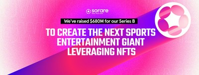 Sorare raises $680M Series B to create the next sports entertainment giant leveraging NFTs