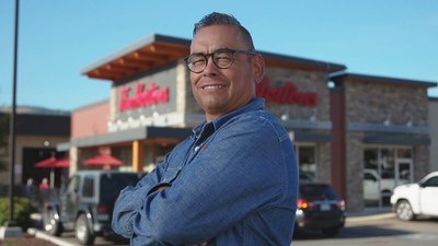 Shane Gottfriedson, former Tk'emlups te Secwepemc First Nation chief and former B.C. regional chief for the Assembly of First Nations, who co-owns a Tim Hortons restaurant located a short distance from the former Kamloops residential school (CNW Group/Tim Hortons)