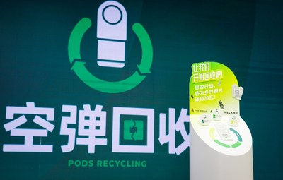 RLX's used pods recycling bin