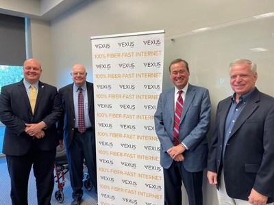 Nic Hunter, Lake Charles Mayor; George Swift President/CEO, Southwest Louisiana Economic Development Alliance; Jim Gleason, CEO Vexus; Mike Danahay, Sulphur Mayor