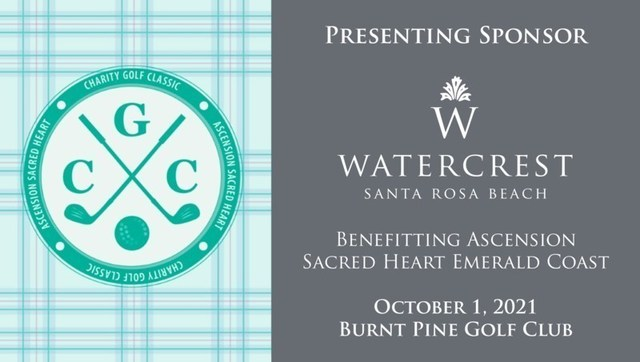 Watercrest Santa Rosa Beach is proud to sponsor the Ascension Sacred Heart Foundation's 19th Annual Charity Golf Classic on October 1st, 2021 at Burnt Pine Golf Club.