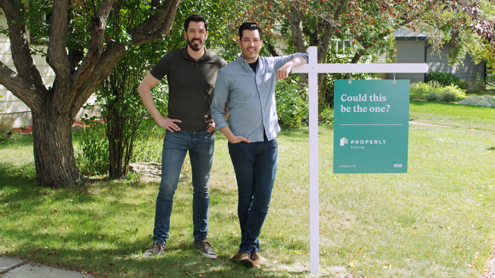 Drew and Jonathan Scott Join Properly, a tech-enabled real estate brokerage (CNW Group/Properly)