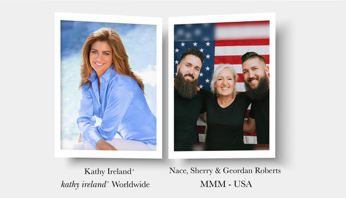 Image of Kathy Ireland courtesy of Jon Carrasco. Image of Nace, Sherry & Geordan Roberts courtesy of MMM-USA.