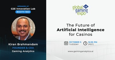 """Coming to G2E 2021 """"The Future of AI for Casinos"""""""